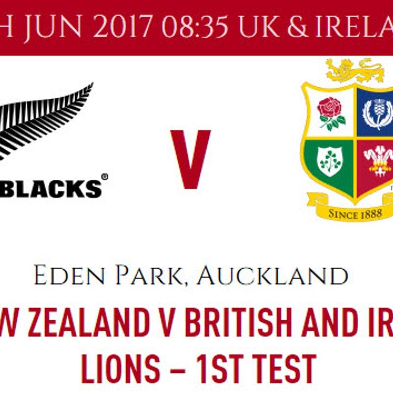 Lions v All Blacks - 1st Test - 24 June 2017 - 8:35am