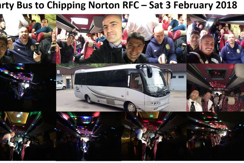 Party Bus to Chipping Norton RFC