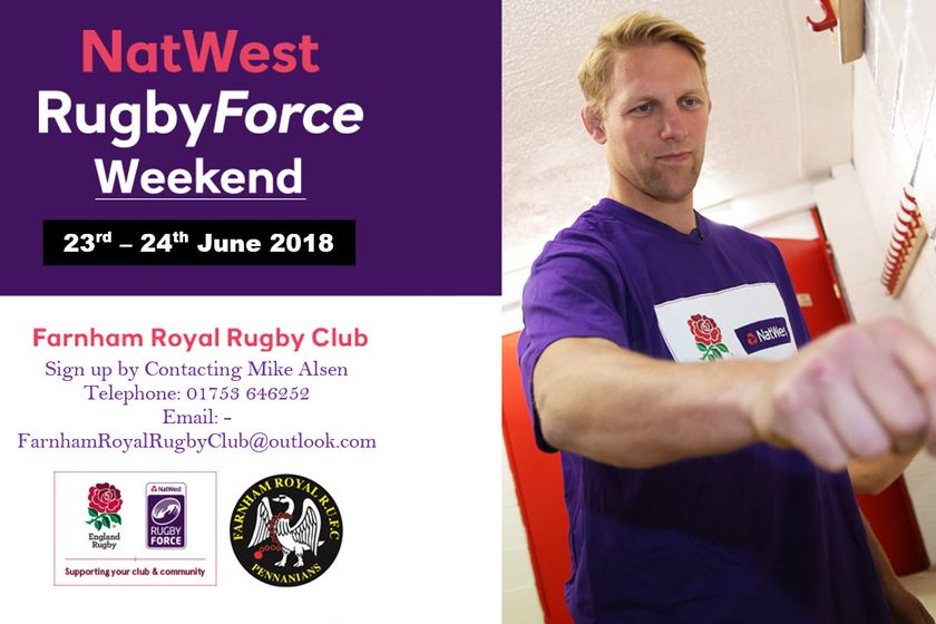 NatWest RugbyForce Weekend 2018 - Sat 23 June 2018