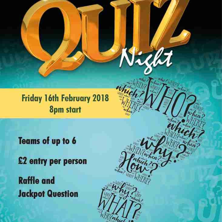 Quiz Night Returns this Friday