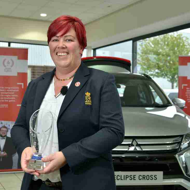 Claire Scoops Top Prize at Twickenham