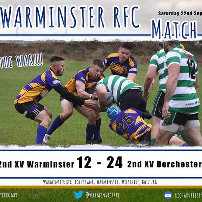 Warminster IIs vs Dorchester IIs (Cup) - 22/9/18