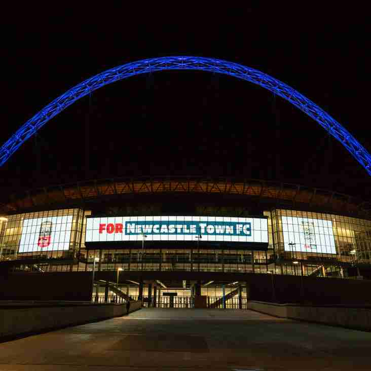 WEMBLEY STADIUM LIGHTS UP FOR NEWCASTLE TOWN