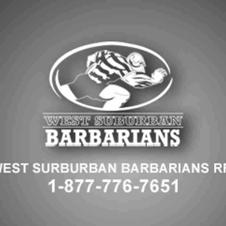 West Suburban Barbarians Team Store