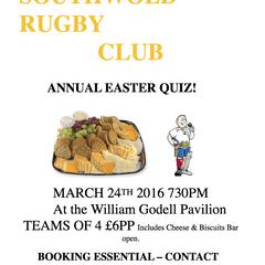 Rugby Club Quiz Night on 24th March