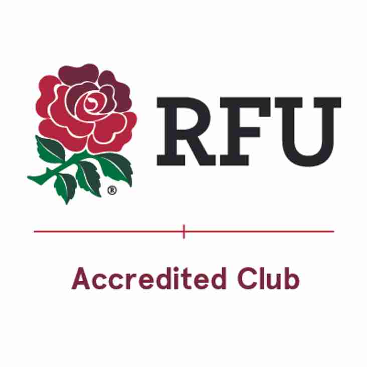 Southwold Rugby has been re-accredited by the RFU