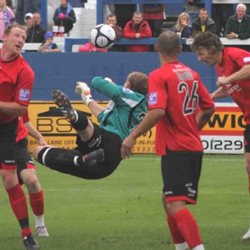 Away v Barrow 2010 2011