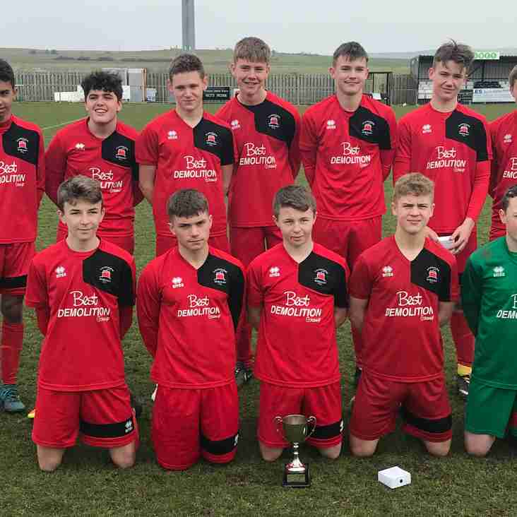U15 Squad In Cup Final Win to Complete Double