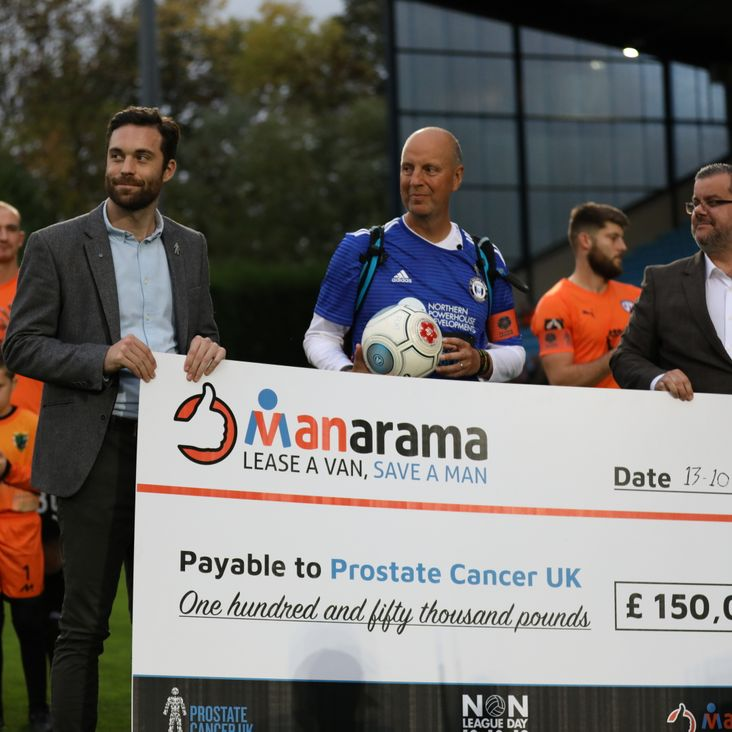 #MANarama National League Campaign Raises £150,000 for Prostate Cancer UK<