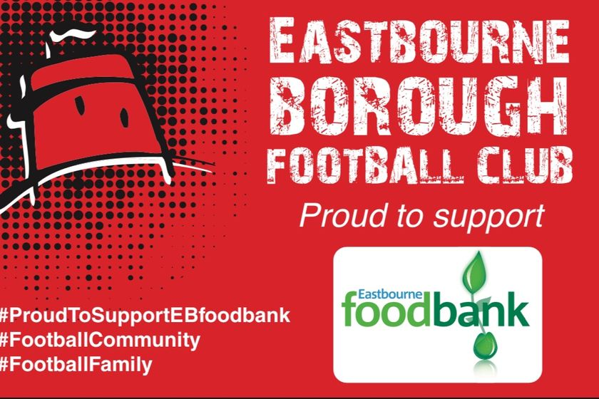 Boro In Eastbourne Foodbank Collection This Saturday v Billericay Town