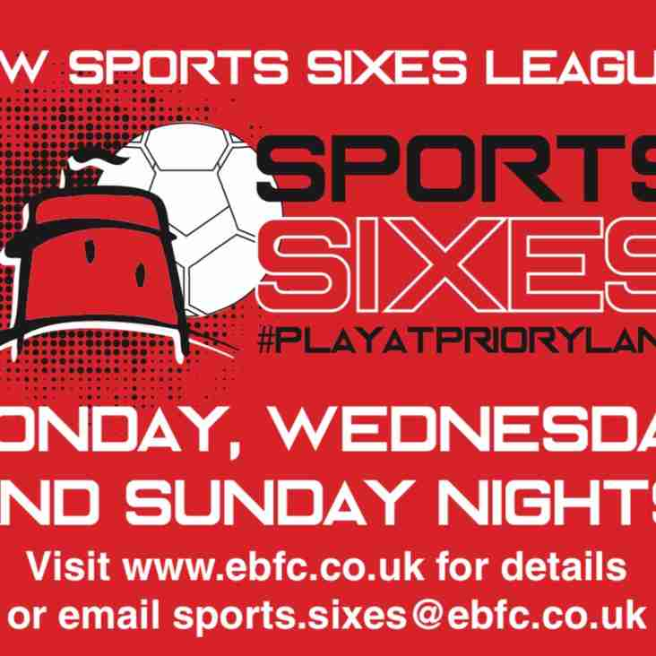 Sports Sixes League - Premier Division Friendlies 1/7/19