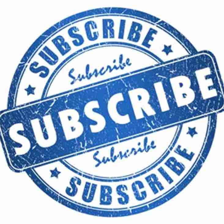 Annual Subscriptions are now Due!