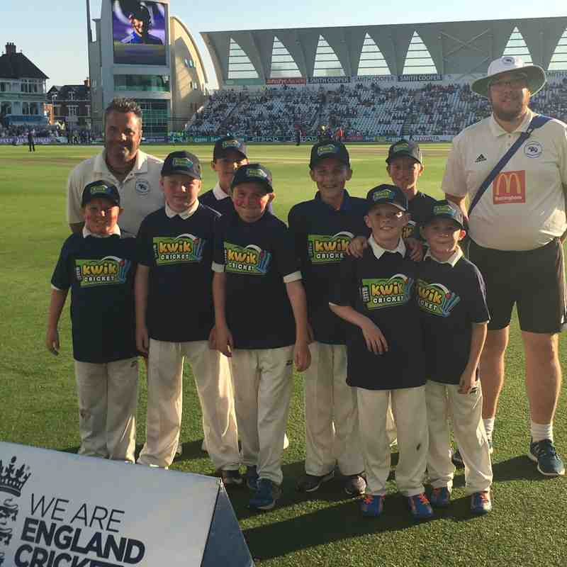 Junior Badgers at the 2016 Trent Bridge ODI
