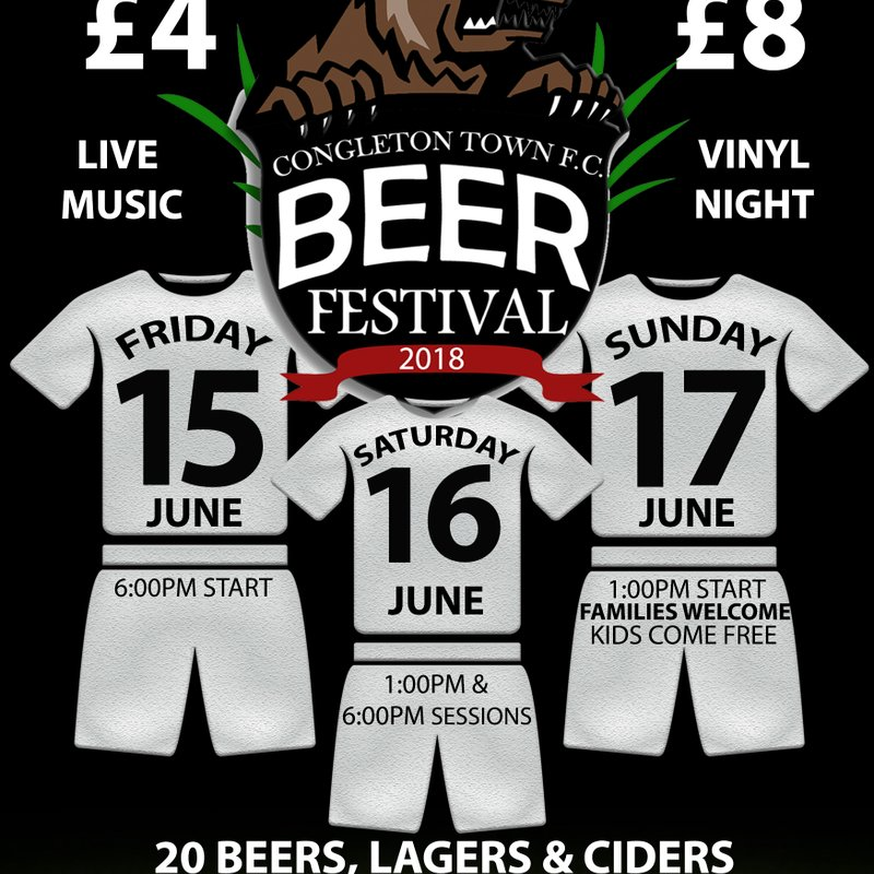 Congleton Town FC Beer and Gin Festival