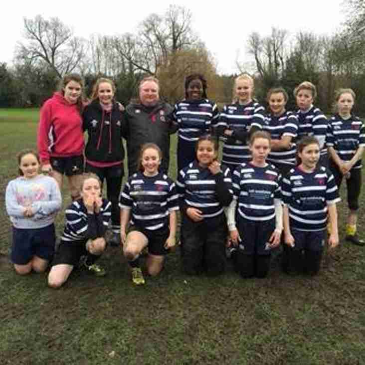 Combe Girls attend Pitch up and play at Dartfodians.