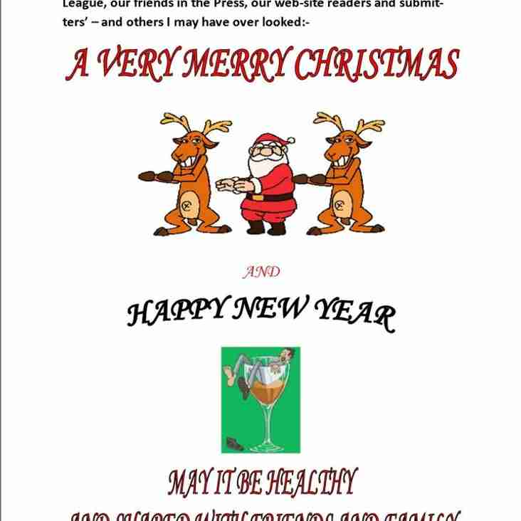 Christmas Greetings to all Readers