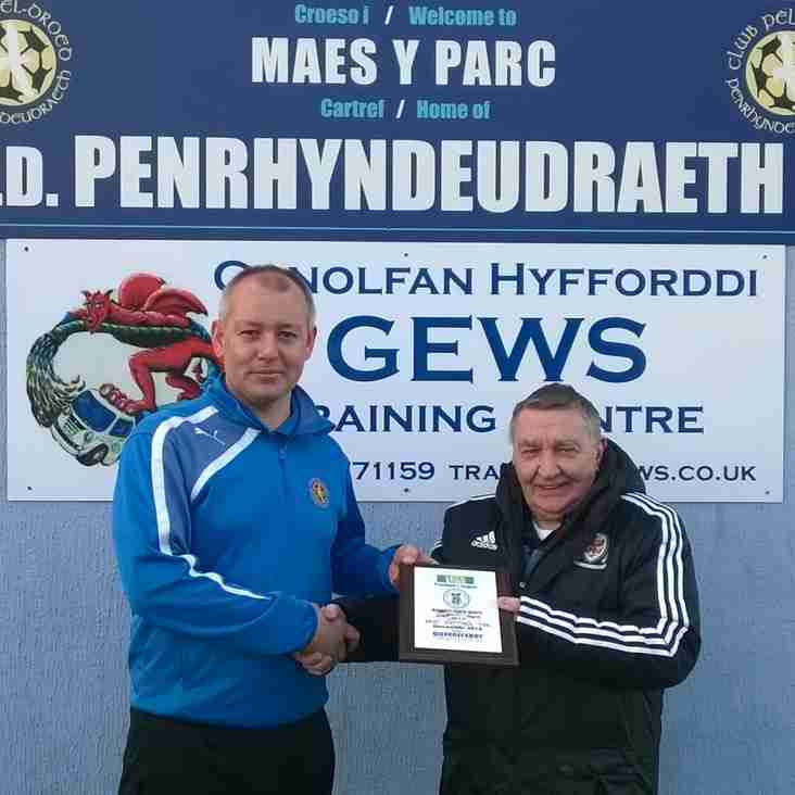 Manager of the Month December