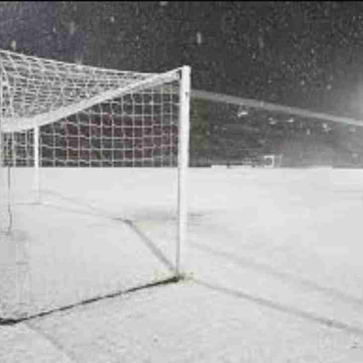 Matches Postponed Snow
