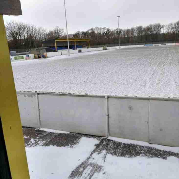 Snow calls a halt to weekend fixtures