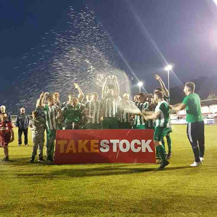 Bodedern Ath Win the Take Stock Van Hire Division two cup final