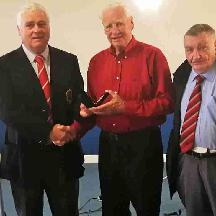 Hughie Davies awarded for 60 years of sevice