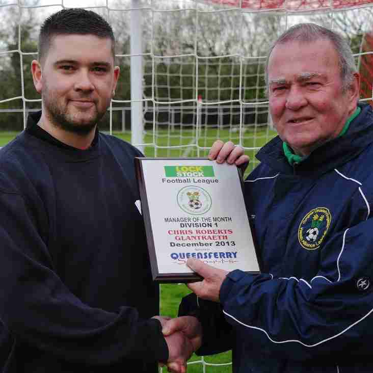 Queensferry sports division one manager of the month for September