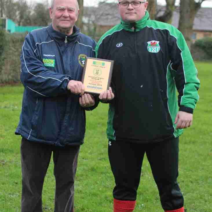 Queensferry sports Division One Manager of the Month for March