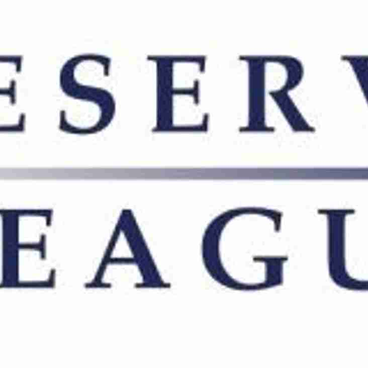 Reserve league for 2019/20 season