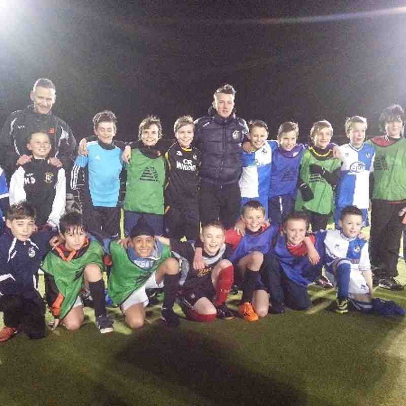 Olly Clarke visits Downend Saints U12s Training