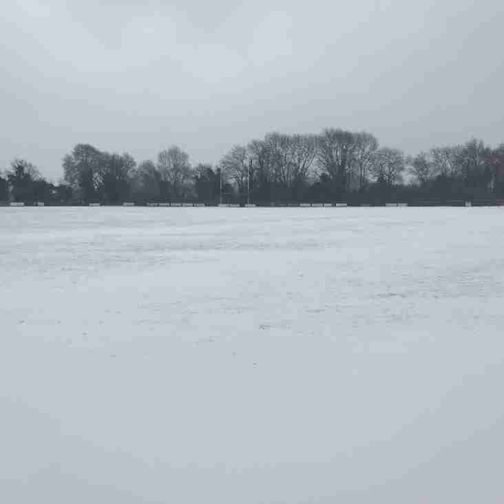 Saturdays Kent Cup Semi Final v Sidcup postponed
