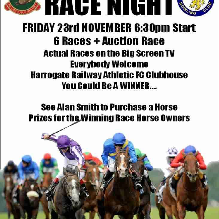 Race Night Friday 23rd November 2018