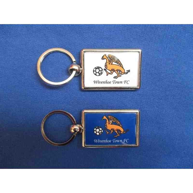 Double sided metal key ring