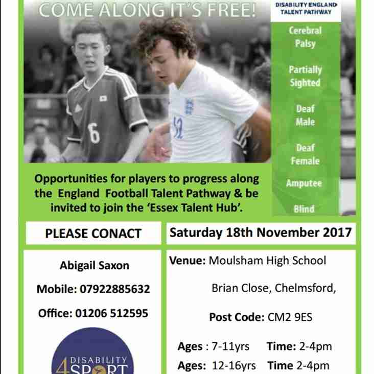 Disability England - Talent Pathway