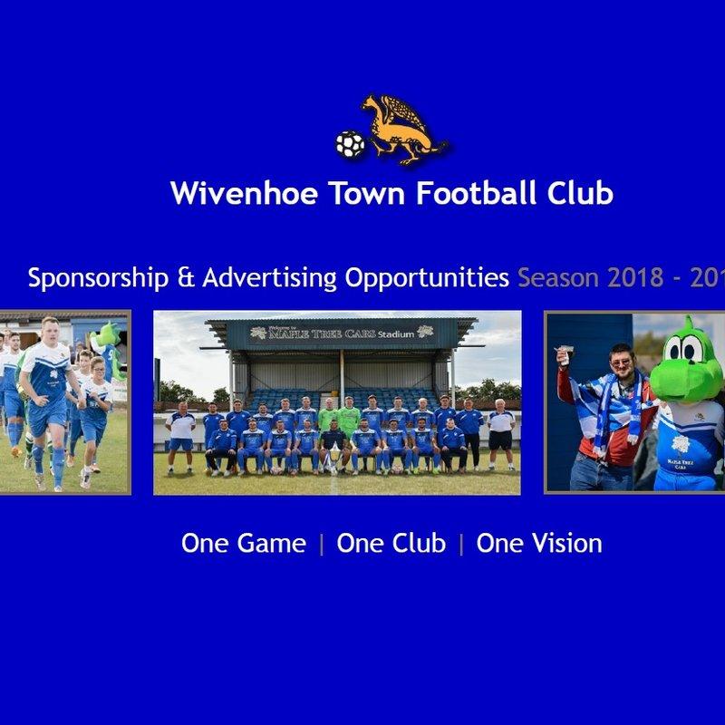 Wivenhoe Town  - Sponsorship & Advertising