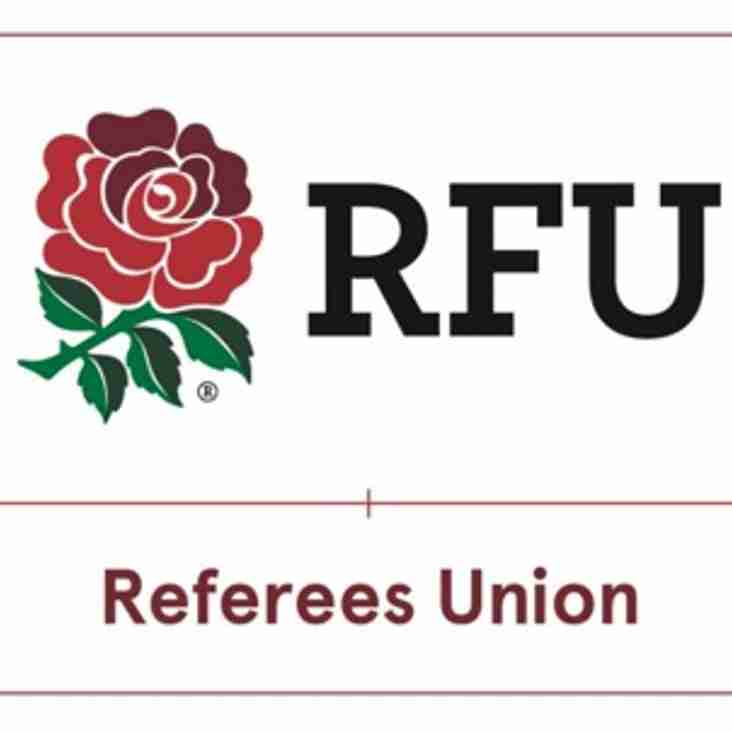 Rugby Football Referees' Union Technology  Announcement