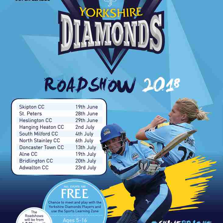 Yorkshire Diamonds roadshow coming to Adwalton Cricket Club