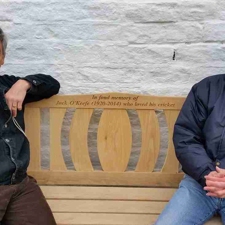 Jack O'Keefe Memorial Bench unvailed