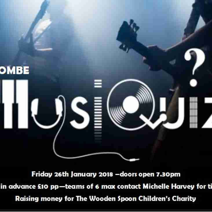 Combe Music Quiz Fri 26th Jan