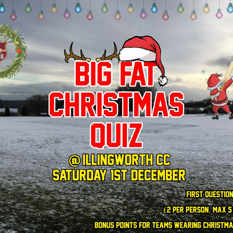 ICC Christmas Quiz - Saturday 1st December