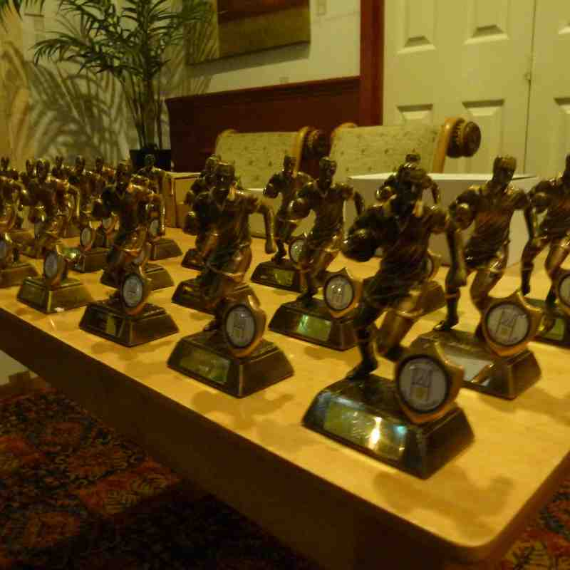Under 14's Presentation night 21/11/14