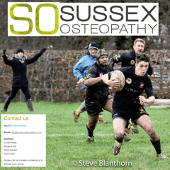 Sussex Osteopathy Man of the Match is Sam David