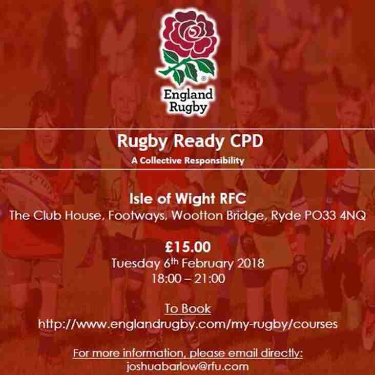 Rugby Ready CPD - A Collective Responsibility!