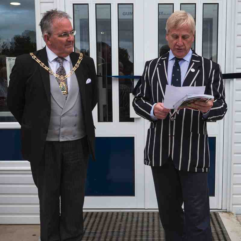 Opening the refurbished clubhouse by The Mayor of Bromley