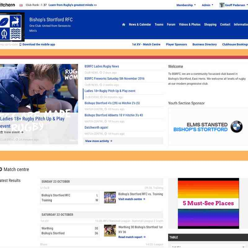Web Site Front Page