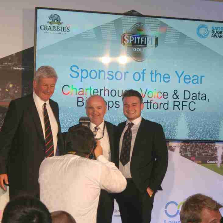 Charterhouse Voice & Data - National Rugby Awards Sponsor of the Year 2016