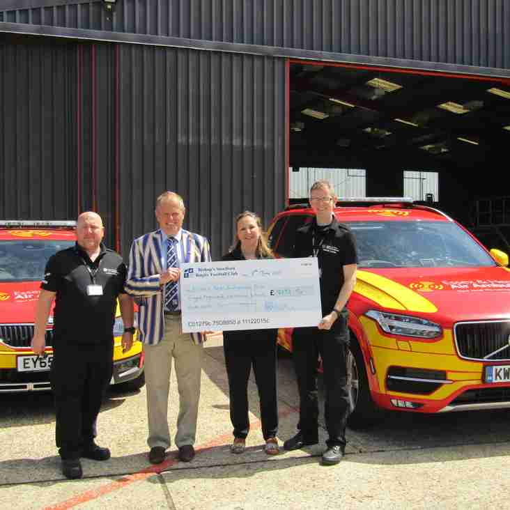 Presidents Charity  - Essex & Herts Air Ambulance - Final  cheque presentation