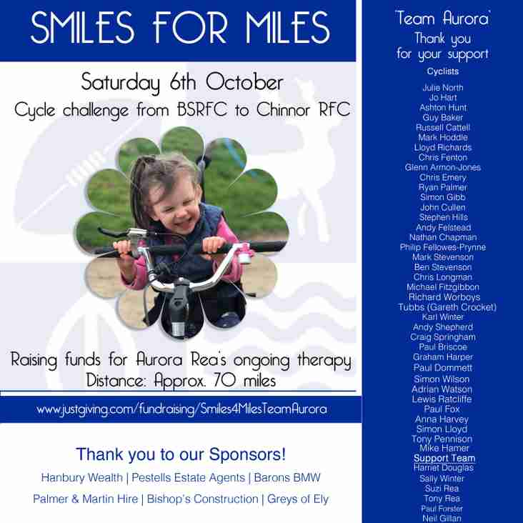 Smiles for Miles - Charity Bike ride Update