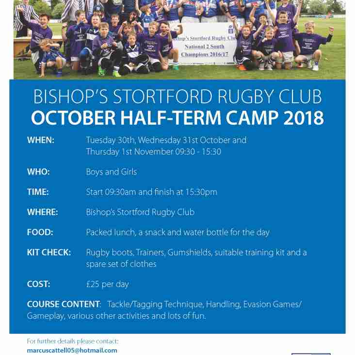 CC Coaching Rugby Camps 2018-19