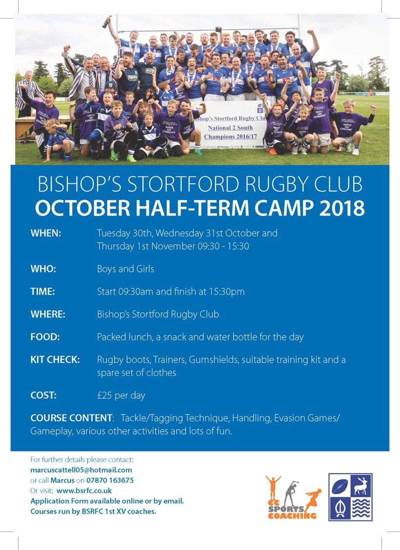 Cc Coaching Rugby Camps 2018 19 News Bishop S Stortford Rfc