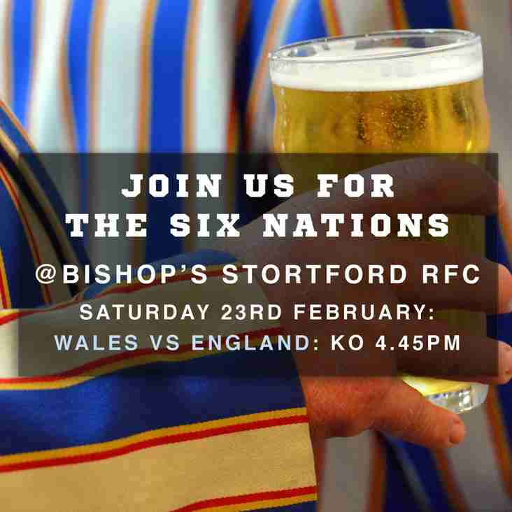 Watch the Six Nations at the Club on Saturday